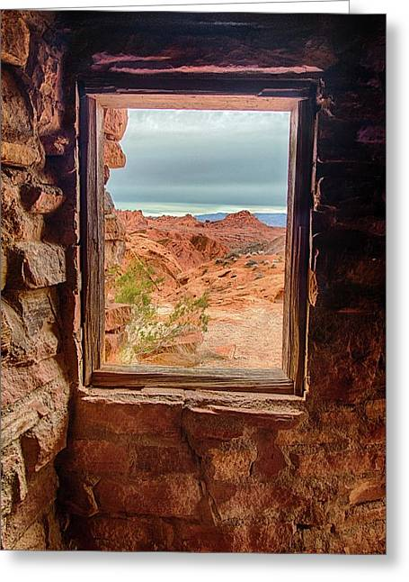 Valley Of Fire Window View Greeting Card