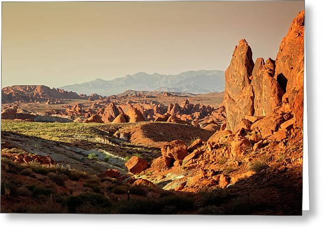 Valley Of Fire Xxiii Greeting Card by Ricky Barnard
