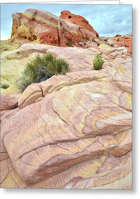 Valley Of Fire's Nike Rock Greeting Card