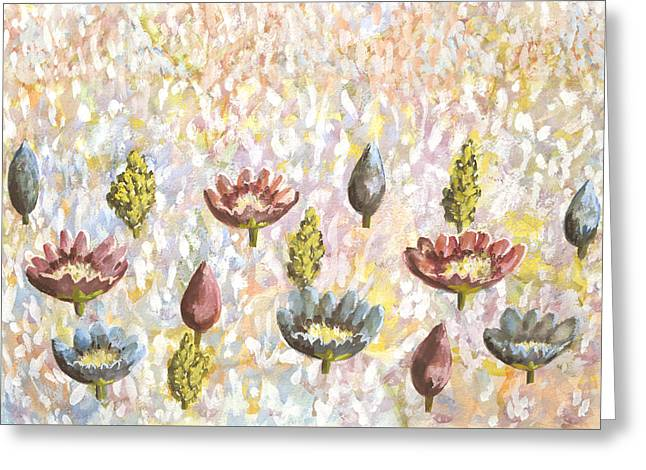 Valley Of Flowers Greeting Card by Thecla Correya