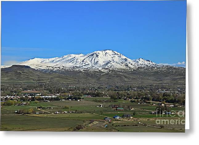 Valley Of Plenty Greeting Card by Robert Bales