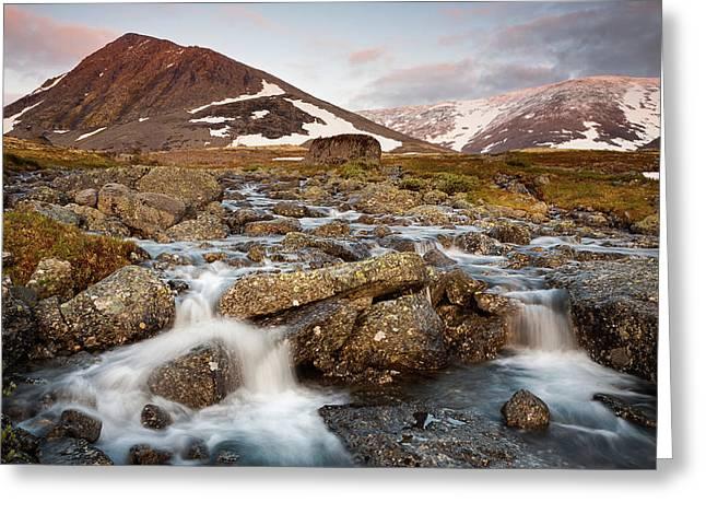 Valley Of Streams Greeting Card by Konstantin Dikovsky