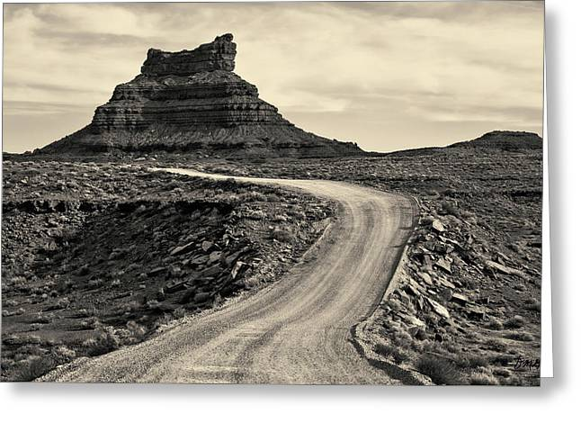 Greeting Card featuring the photograph Valley Of The Gods IIi Toned by David Gordon