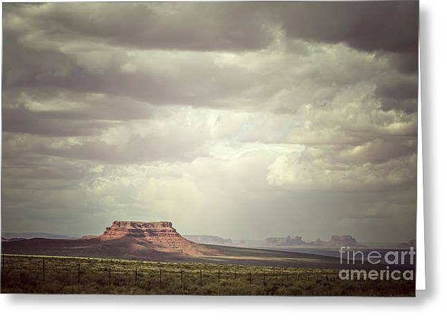 Valley Of The Gods Greeting Card by Joan McCool