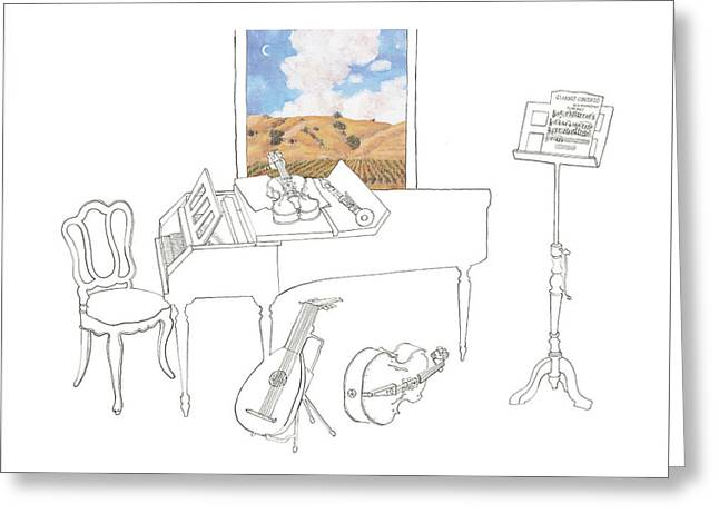 Musical Still Life For Valley Of The Moon Music Festival Greeting Card