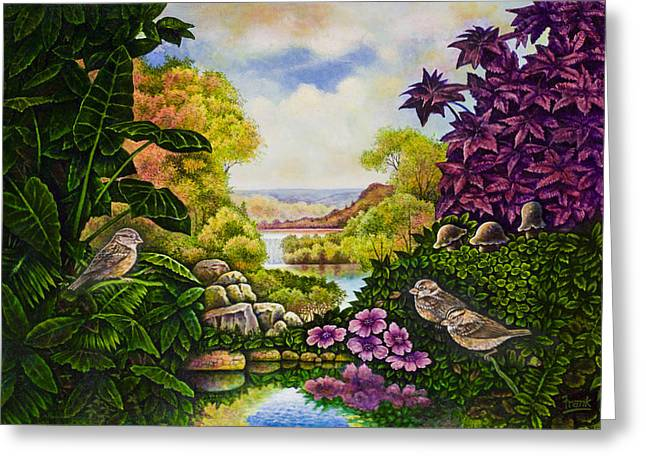Valley Of The Sparrows Greeting Card by Michael Frank