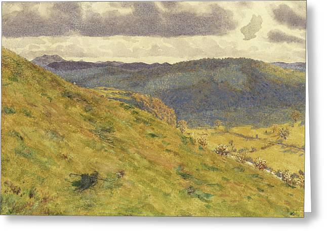Valley Of The Teme, A Sunny November Morning Greeting Card