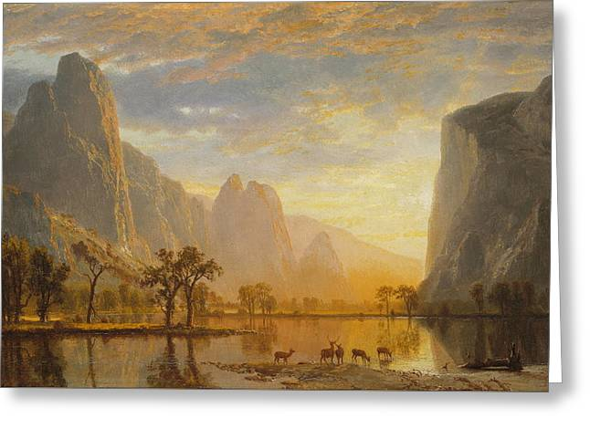 Valley Of The Yosemite, 1864 Greeting Card by Albert Bierstadt