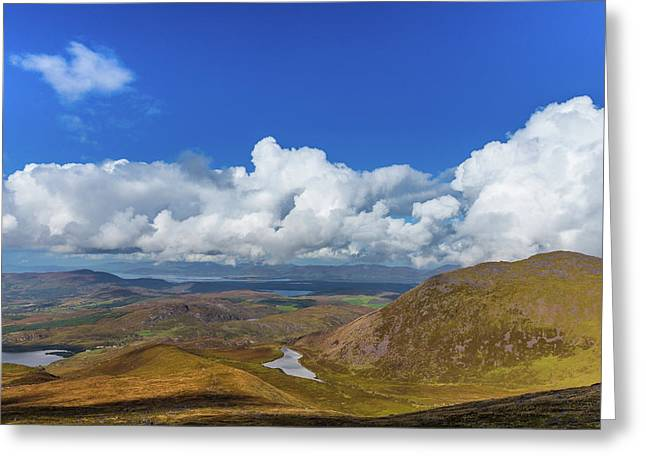 Greeting Card featuring the photograph Valleys And Mountains In County Kerry On A Summer Day by Semmick Photo