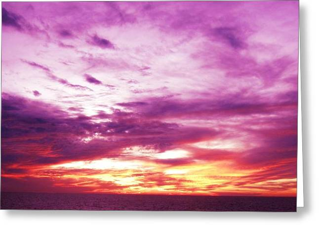 Panoramic Ocean Digital Greeting Cards - Valor Greeting Card by Molly McPherson