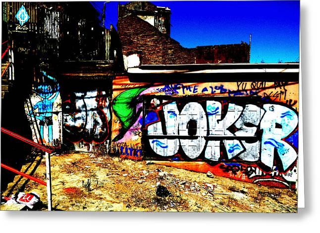 Valparaiso Joker Graffiti Greeting Card