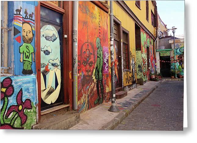 Valparaiso Street Art 08 Greeting Card by Aidan Moran