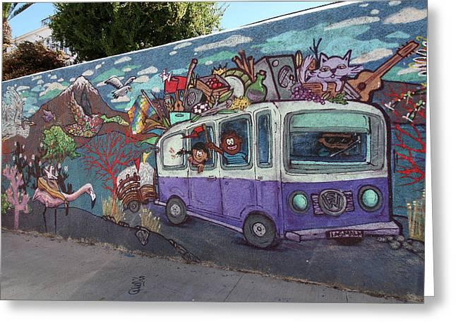 Valparaiso Street Art 16 Greeting Card by Aidan Moran