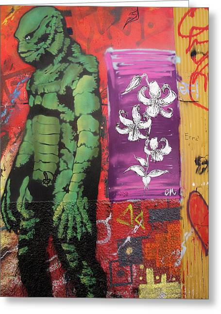 Valparaiso Street Art 17 Greeting Card by Aidan Moran