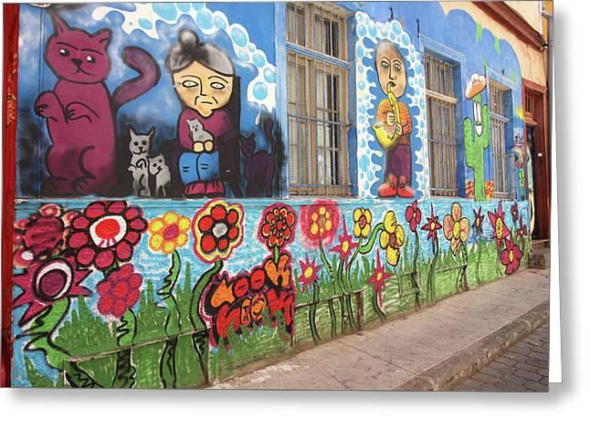 Valparaiso Street Art 24 Greeting Card by Aidan Moran