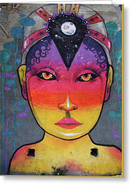 Valparaiso Street Art 35 Greeting Card by Aidan Moran