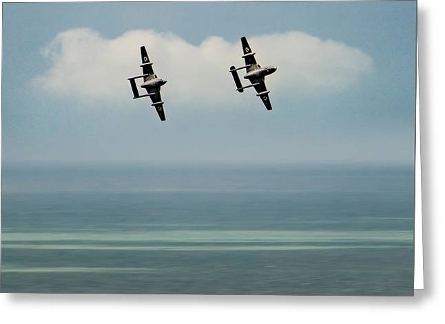 Vampires Over The Channel Greeting Card
