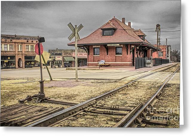 Van Buren Ar Train Depot Greeting Card by Jim Raines