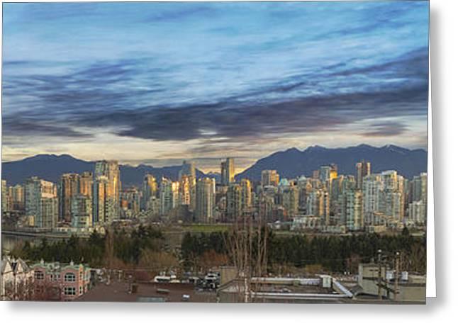 Van City Sunrise Greeting Card by David Gn