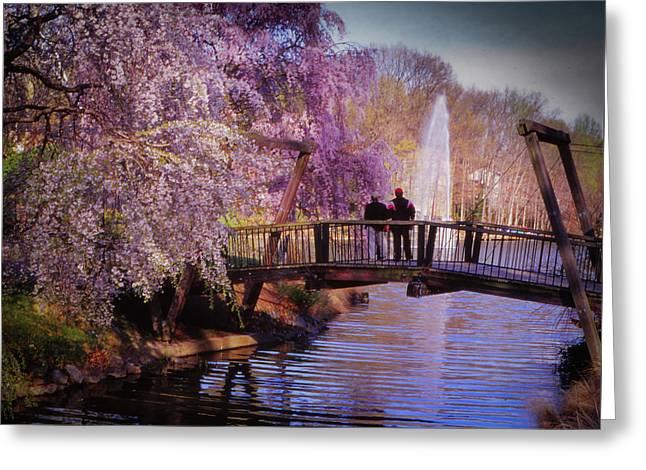 Van Gogh Bridge - Reston, Virginia Greeting Card