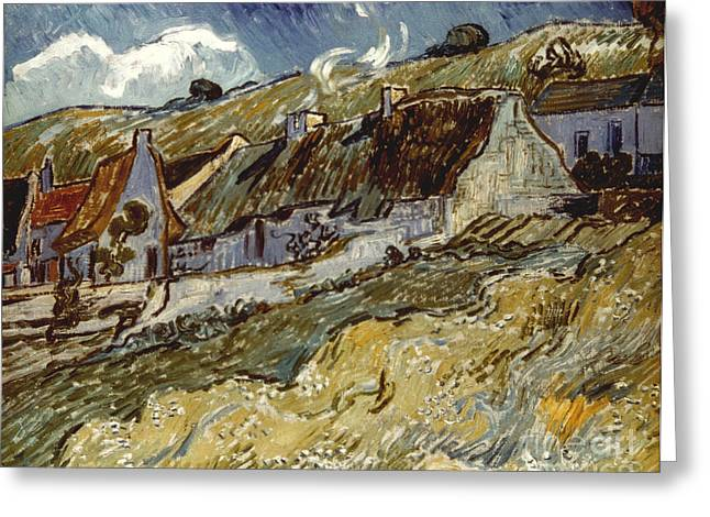 Van Gogh: Cottages, 1890 Greeting Card by Granger