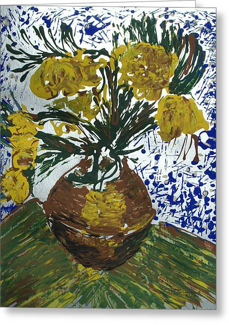 Van Gogh Greeting Card by J R Seymour