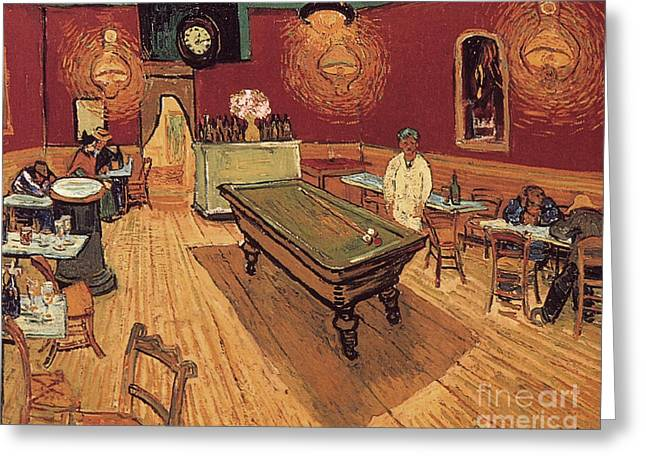 Van Gogh Night Cafe 1888 Greeting Card by Granger