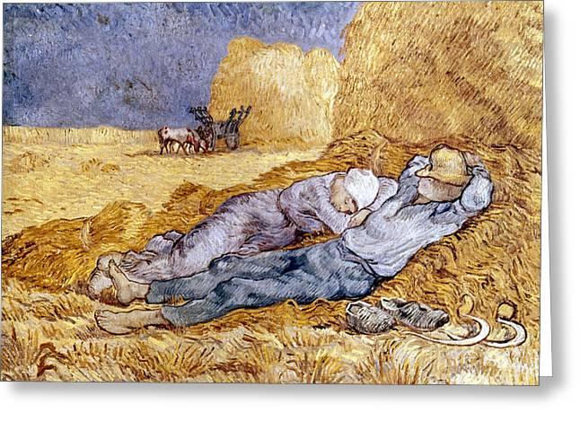 Van Gogh: Noon Nap, 1889-90 Greeting Card by Granger