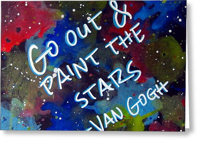 Van Gogh Quote Greeting Card by Michelle Eshleman