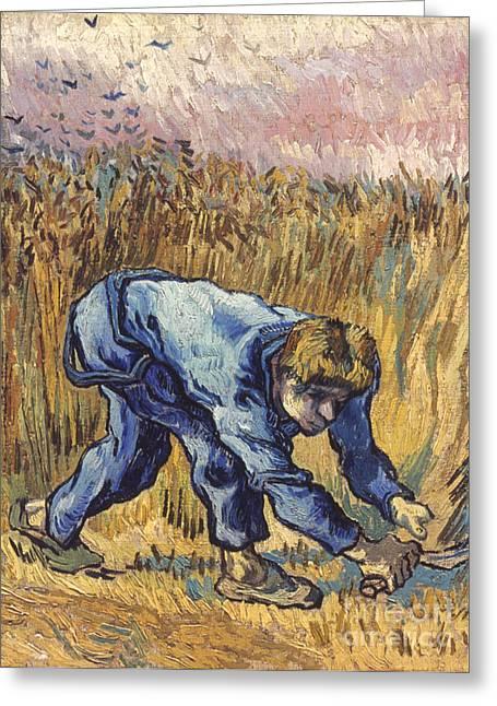 Van Gogh: The Reaper, 1889 Greeting Card by Granger
