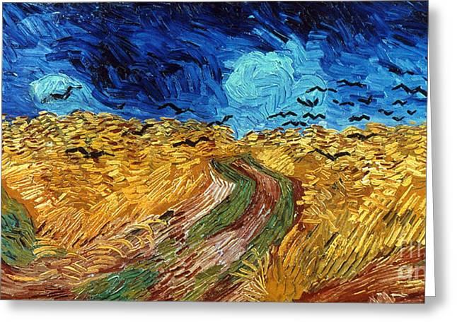 Van Gogh: Wheatfield, 1890 Greeting Card by Granger