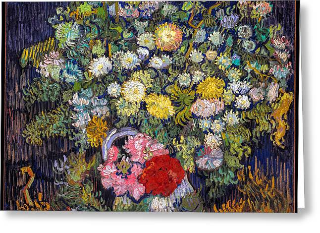 van Gogh's Vase          Greeting Card