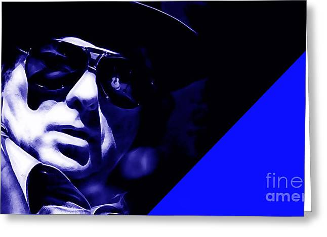 Van Morrison Collection Greeting Card by Marvin Blaine