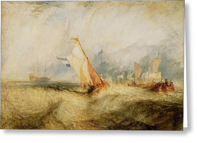 Van Tromp Going About To Please His Masters Greeting Card by Joseph Mallord William Turner