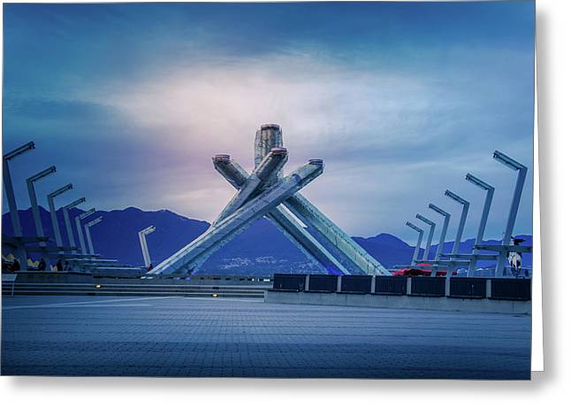 Vancouver 2010 Olympic Cauldron Greeting Card by Art Spectrum