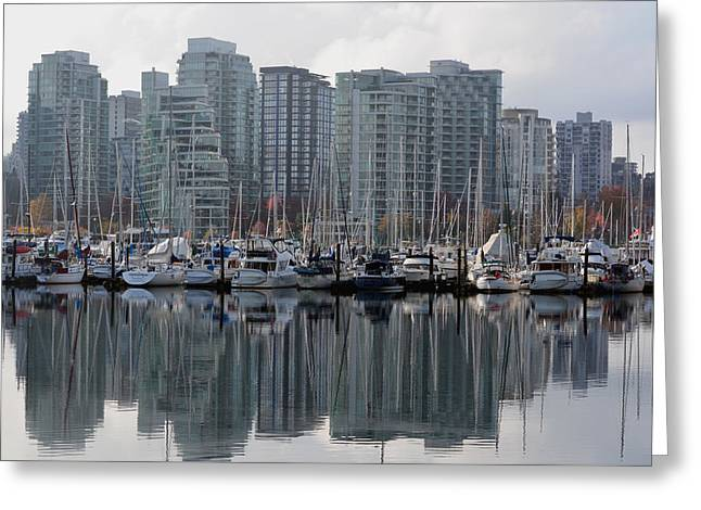 Vancouver Bc - Boats And Condos Greeting Card