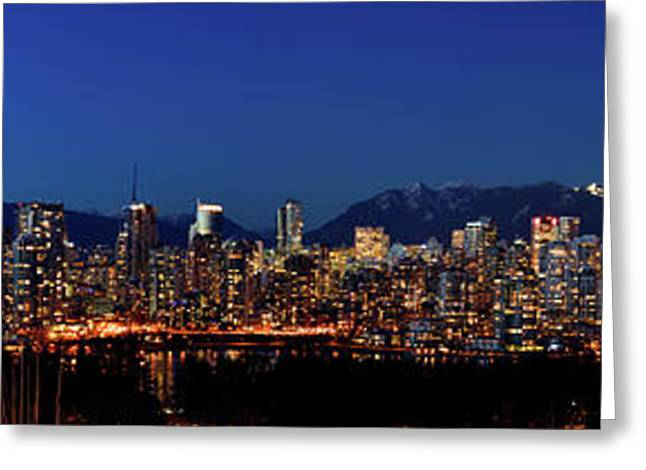 Vancouver Bc False Creek Sunset 1 Greeting Card