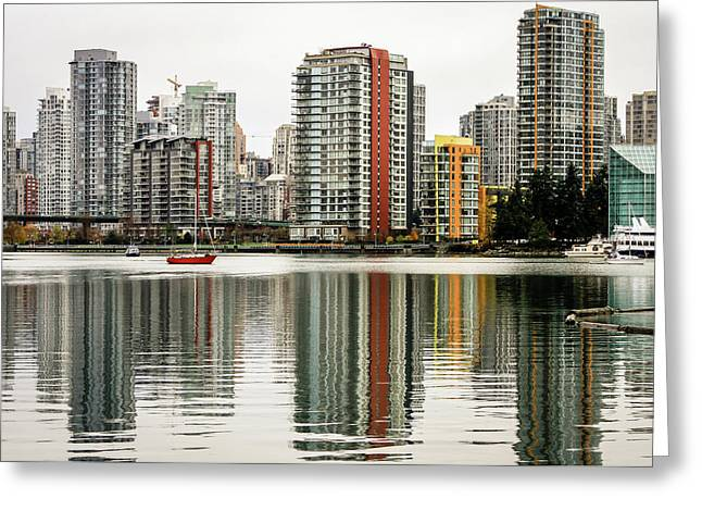 Vancouver Bc Sky Line Greeting Card