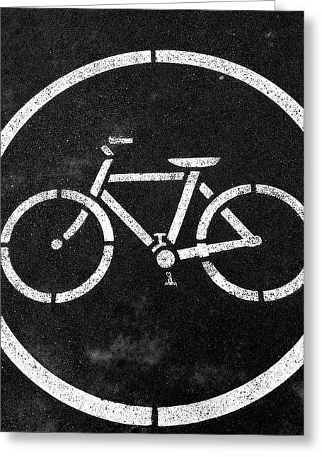 Vancouver Bike Lane- Art By Linda Woods Greeting Card
