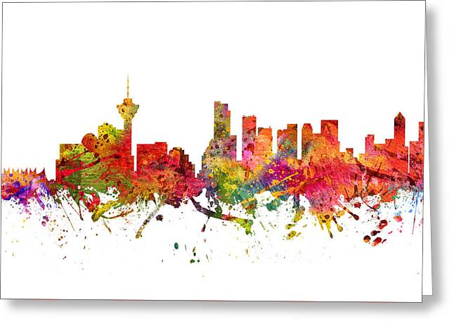 Vancouver Cityscape 08 Greeting Card by Aged Pixel