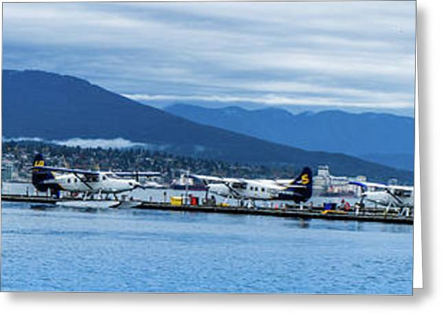 Vancouver Harbour Water Airport  Greeting Card by Art Spectrum