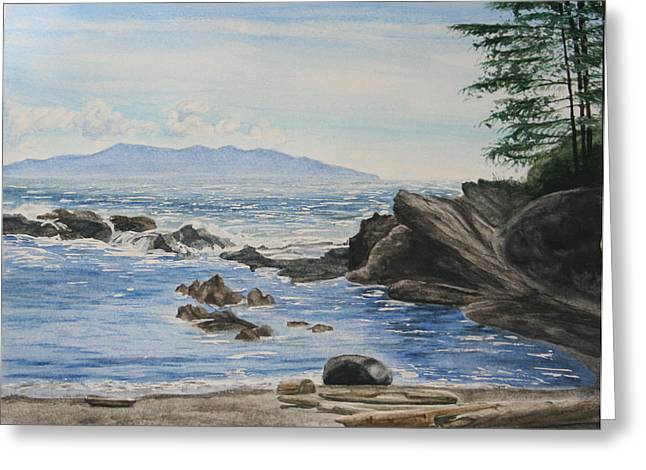 Vancouver Island Greeting Card by Monika Degan