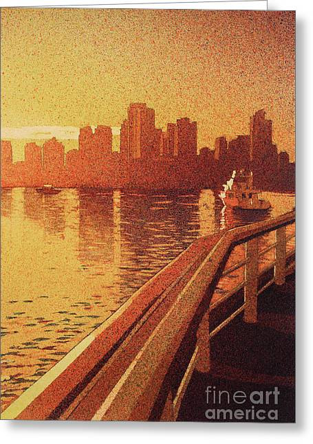 Greeting Card featuring the painting Vancouver Morning- Bc by Ryan Fox