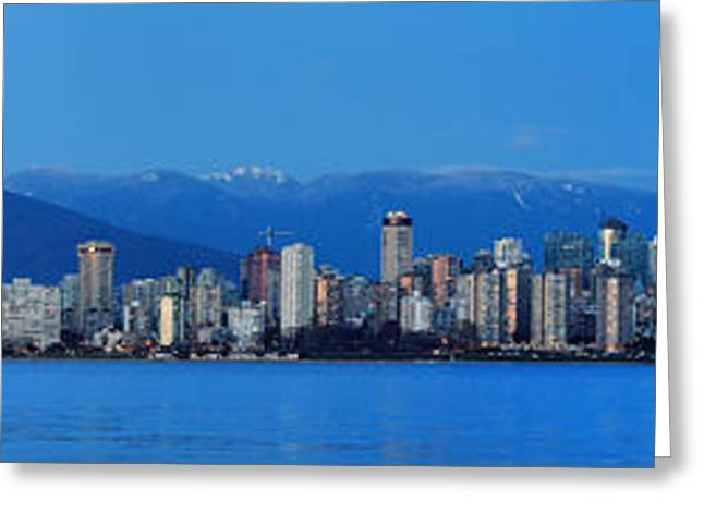 Vancouver Panorama   This Can Be Printed Very Large Greeting Card by Pierre Leclerc Photography