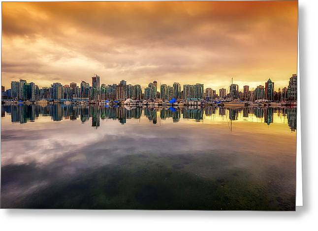 Greeting Card featuring the photograph Vancouver Reflections by Eti Reid