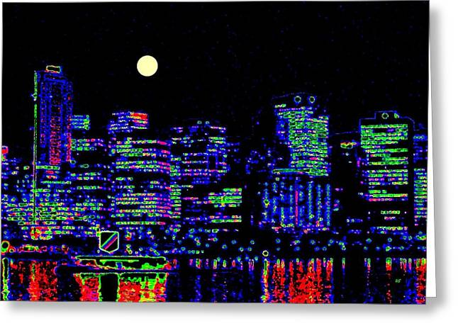 Vancouver Reflections Greeting Card by Will Borden
