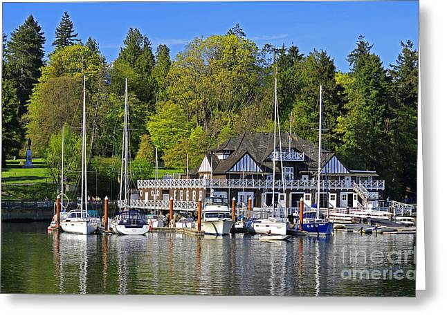 Vancouver Rowing Club In Stanley Park Greeting Card