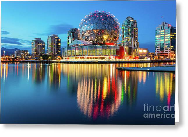 Vancouver Science World Greeting Card by Inge Johnsson