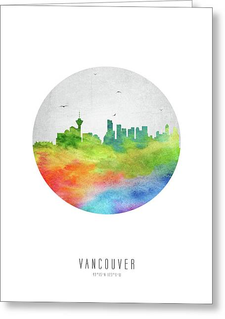 Vancouver Skyline Cabcva20 Greeting Card