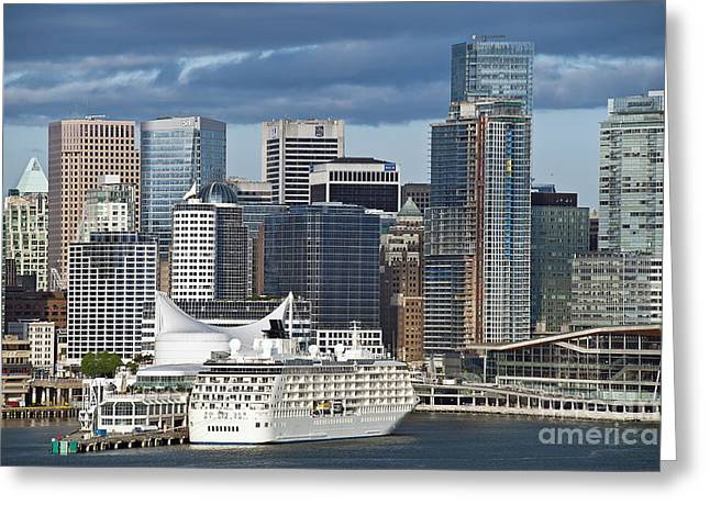 Vancouver Skyline Greeting Card by John Greim